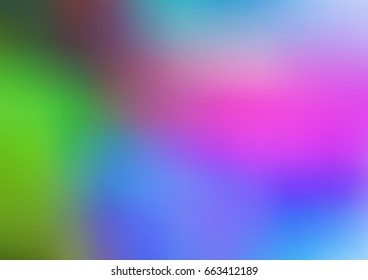 Light Multicolor, Rainbow vector abstract blurred template. Creative illustration in halftone style with gradient. A completely new design for your business.