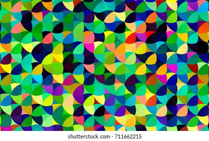 Light Multicolor, Rainbow vector abstract pattern with circles. Geometry template for your business design. Background with colored spheres.