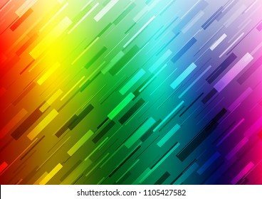 Light Multicolor, Rainbow vector background with straight lines. Lines on blurred abstract background with gradient. Smart design for your business advert.