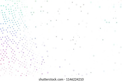 Light Multicolor, Rainbow vector  background with dots. Blurred decorative design in abstract style with bubbles. Beautiful design for your business natural advert.