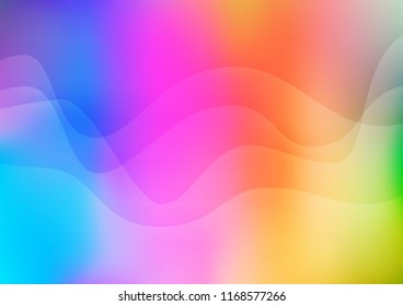 Light Multicolor, Rainbow vector background with lamp shapes. A completely new color illustration in marble style. Pattern for your business design.