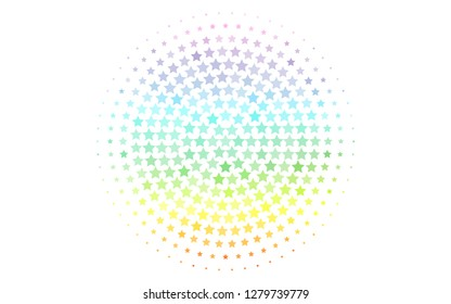 Light Multicolor, Rainbow vector background with colored stars. Blurred decorative design in simple style with stars. Best design for your ad, poster, banner.