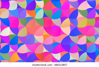 Light Multicolor, Rainbow vector banner with circles, spheres. Abstract spots. Background of Art bubbles in halftone style with colored gradient.