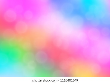 Light Multicolor, Rainbow vector blurred shine abstract template. Colorful abstract illustration with gradient. A new texture for your design.