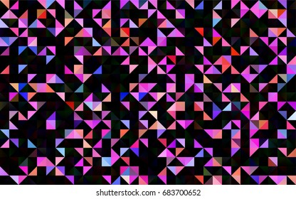 Light Multicolor, Rainbow vector blurry triangle pattern. Shining colored illustration in a brand-new style. The elegant pattern can be used as part of a brand book.