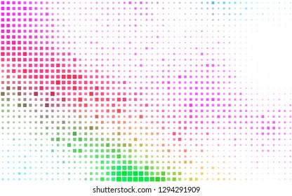 Light Multicolor, Rainbow vector cover in polygonal style. Abstract gradient illustration with rectangles. Best design for your ad, poster, banner.