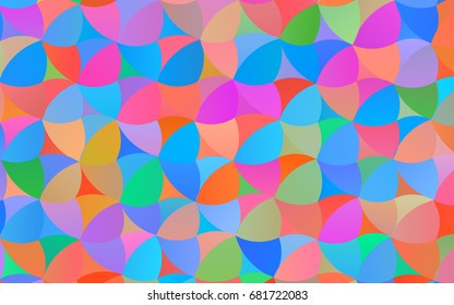 Light Multicolor, Rainbow vector illustration which consist of circles. Dotted gradient design for your business. Creative geometric background in halftone style with colored spots.