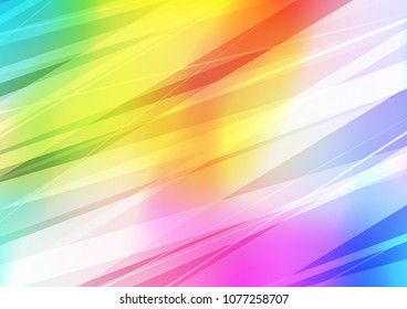 Light Multicolor, Rainbow vector indian curved background. Shining colored illustration with doodles in Zen tangle style. Hand painted design for web, leaflet, textile.