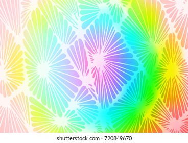 Light Multicolor, Rainbow vector indian curved texture. Glitter abstract illustration with doodles and Zen tangles. Brand-new style for your business design.