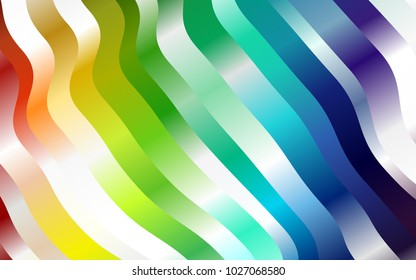 Light Multicolor, Rainbow vector pattern with liquid shapes. Geometric illustration in marble style with gradient.  The template for cell phone backgrounds.