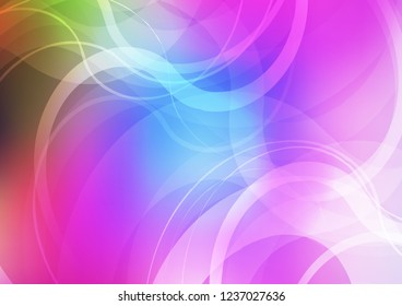 Light Multicolor, Rainbow vector pattern with lamp shapes. Modern gradient abstract illustration with bandy lines. A completely new template for your business design.