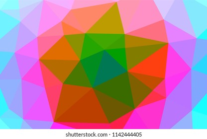 Light Multicolor, Rainbow vector polygonal background. Brand new colored illustration in blurry style with gradient. The elegant pattern can be used as part of a brand book.