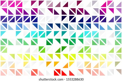 Light Multicolor, Rainbow vector seamless backdrop with lines, triangles. Modern abstract illustration with colorful triangles. Pattern for design of window blinds, curtains.