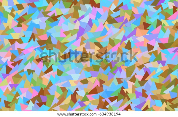 Light Multicolor, Rainbow vector of small triangles on white background. Illustration of abstract texture of triangles. Pattern design for banner, poster, cover.