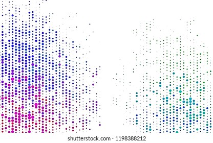 Light Multicolor, Rainbow vector template with circles. Blurred bubbles on abstract background with colorful gradient. Template for your brand book.
