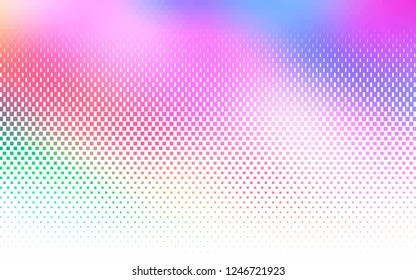 Light Multicolor, Rainbow vector template with crystals, rectangles. Beautiful illustration with rectangles and squares. The template can be used as a background.