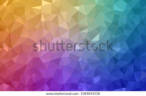 Light Multicolor vector abstract mosaic backdrop. Elegant bright polygonal illustration with gradient. Brand new design for your business.