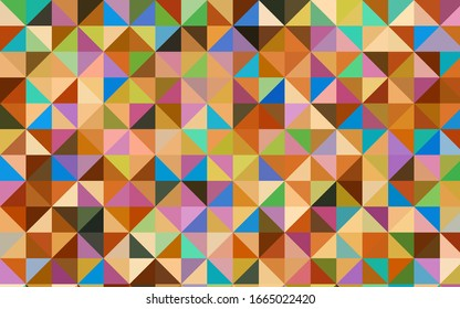 Light Multicolor vector abstract polygonal pattern. Colorful abstract illustration with gradient. Triangular pattern for your business design.