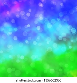 Light Multicolor vector background with circles. Illustration with set of shining colorful abstract spheres. Pattern for wallpapers, curtains.