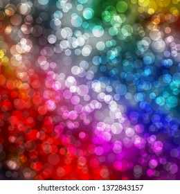 Light Multicolor vector background with circles. Glitter abstract illustration with colorful drops. Design for your commercials.
