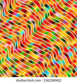 Light Multicolor vector background with lines. Brand new colorful illustration with bent lines. Smart design for your promotions.
