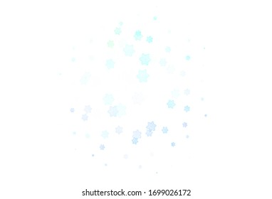 Light Multicolor vector doodle layout with flowers. Decorative design of flowers on white background. New template for your design.