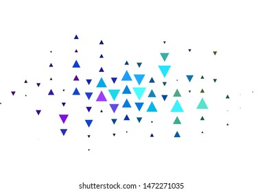 Light Multicolor vector layout with lines, triangles. Decorative design in abstract style with triangles. Smart design for your adverts.