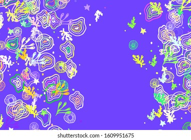 Light Multicolor vector pattern with random forms. Illustration with colorful gradient shapes in abstract style. Modern design for your business card.