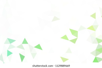Light Multicolor vector polygon abstract backdrop. Triangular geometric sample with gradient.  A completely new design for your leaflet.