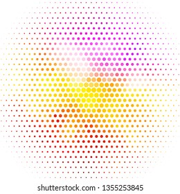 Light Multicolor vector texture with circles. Colorful illustration with gradient dots in nature style. New template for your brand book.