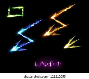 Light neon decorative effects