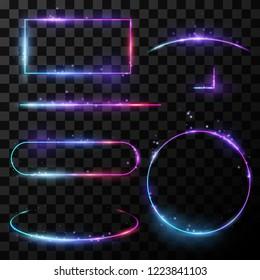 Light neon frames