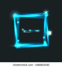 light neon square framwork for your design, text or presentation