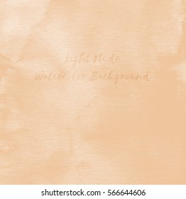Light Nude Watercolor Background