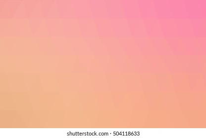 Light orange abstract polygonal pattern. Brand-new colored illustration in blurry style with gradient. A new texture for your design.