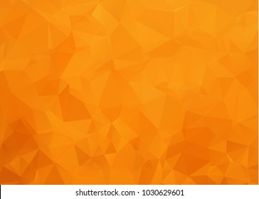 Light Orange abstract polygonal template. Modern geometrical abstract illustration with gradient. The textured pattern can be used for background.