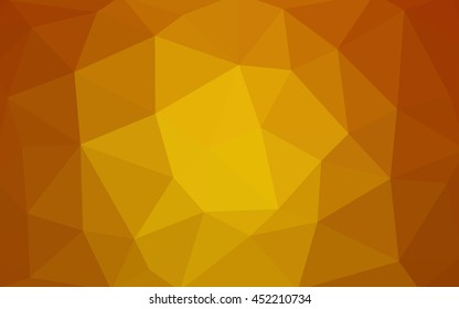 Light orange polygonal illustration, which consist of triangles.