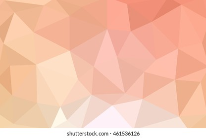 Light orange polygonal illustration, which consist of triangles. Triangular design for your business. Geometric background in Origami style with gradient.