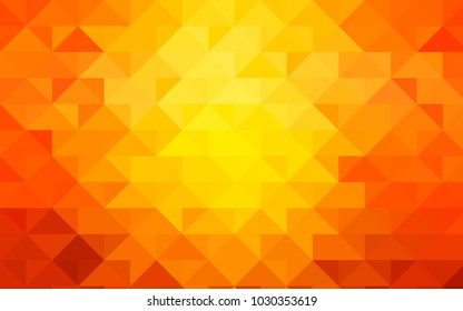 Light Orange vector abstract mosaic pattern. Shining colored illustration in a brand-new style. A new texture for your design.
