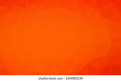 Light Orange vector abstract mosaic pattern. Creative illustration in halftone style with gradient. Elegant pattern for a brand book.