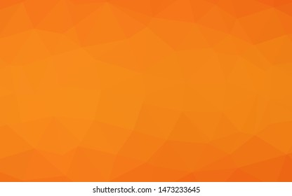 Light Orange vector abstract mosaic background. A sample with polygonal shapes. Completely new template for your business design.