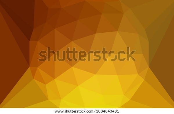 Light Orange vector abstract mosaic background with a diamond. Colorful illustration in a polygonal style. Completely new template for your banner.