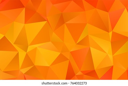 Light Orange vector abstract polygonal pattern. Colorful illustration in abstract style with gradient. The best triangular design for your business.