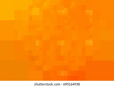 Light Orange vector Background rectangles and squares. Style Patchwork and Quilt. Geometric sample. Repeating routine with rectangle shapes.