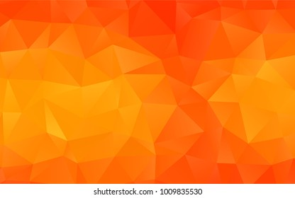 Light Orange vector blurry triangle pattern. A vague abstract illustration with gradient. The elegant pattern can be used as part of a brand book.