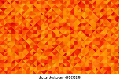 Light Orange vector blurry triangle template. A sample with polygonal shapes. A new texture for your design.