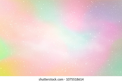 Light Orange vector layout with cosmic stars. Glitter abstract illustration with colorful cosmic stars. Pattern for astronomy websites.