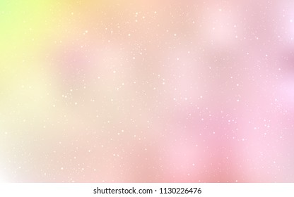 Light Orange vector layout with cosmic stars. Modern abstract illustration with Big Dipper stars. Template for cosmic backgrounds.