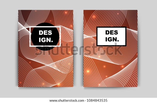 Light Orange vector layout for Leaflets. Abstract booklet on colored background with gradient. Beautiful design for cover of notepads.