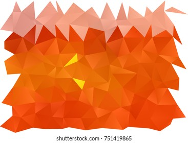 Light Orange vector low poly pattern. Colorful abstract illustration with gradient. Brand-new design for your business.